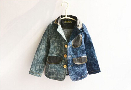 2015 new fashion autumn spring baby boys long sleeve cowboys children's outerwear clothes kids casual clothing(China (Mainland))