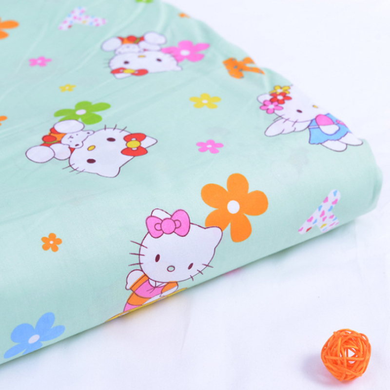 NEW Fabric 100*160CM Hello Kitty Printed Cotton Fabric TelasDIY Patchwork Sewing Baby Toy Material Quilting Bedding Tecido51-36(China (Mainland))