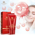 Deep Cleansing purifying peel off Black mud Facial face mask Remove blackhead facial mask strawberry nose