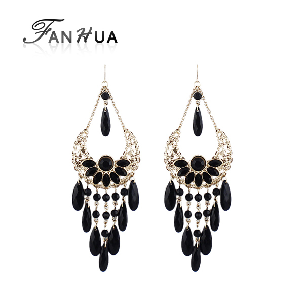 Bohemain Jewelry Colorful Bead Chandelier Earrings Brincos New 2015 Dangle Earrings for Women(China (Mainland))