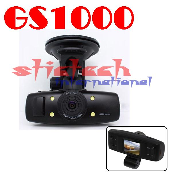 by dhl or ems 50 pieces FULL HD 1080P IR Dashboard Vehicle Car black box GS1000(China (Mainland))