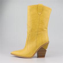 FEDONAS 2019 Giữa bắp chân Giày Bốt Nữ Cao Gót Giày Cưới Người Phụ Nữ Gợi Cảm Mũi Nhọn Giày Cao 2019 mới nam Nữ(China)