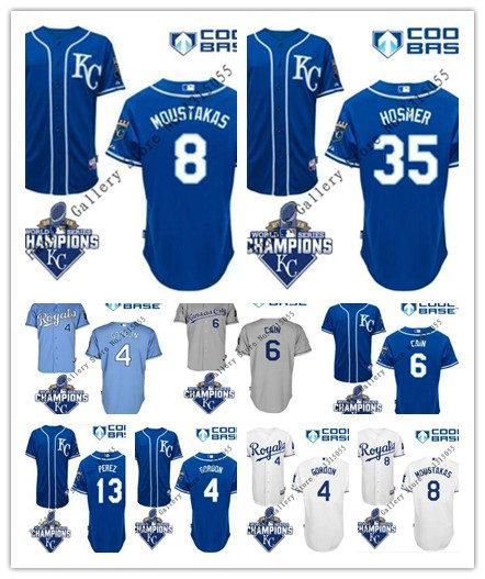 Гаджет  Mix Order 2015 Stitched KC Royals Jersey #4 Alex Gordon White Blue Grey Cool Base Mens Kansas City Royals Jersey 203 None Спорт и развлечения