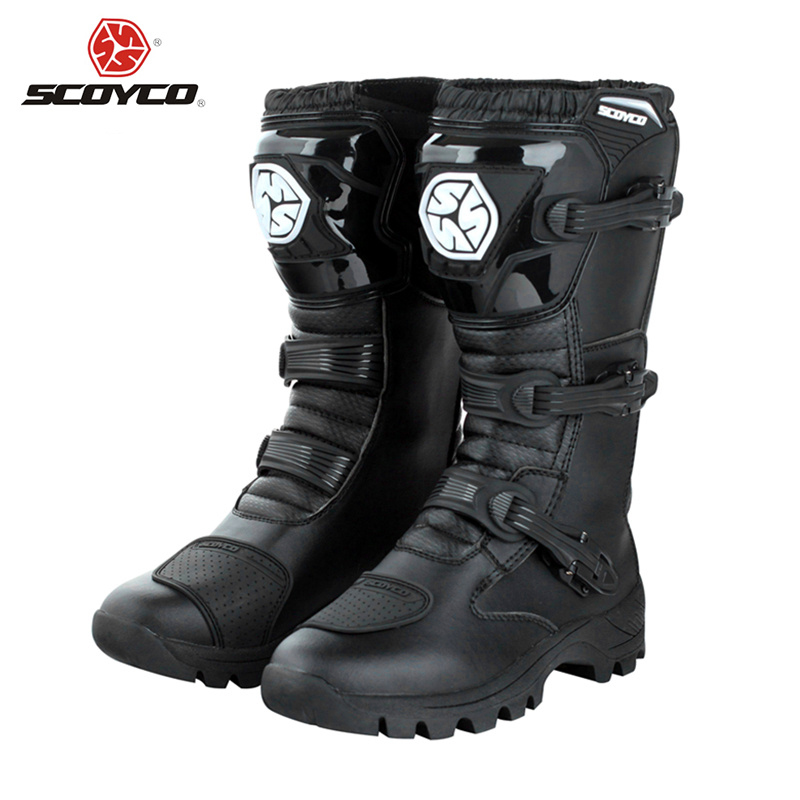 SCOYCO Professional Motorcycle Motorcross Touring Boot Protective Gear Racing Shoes Breathable Off-Road Riding Knee-High Boots(China (Mainland))