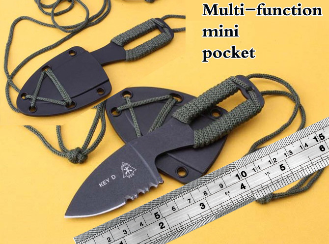 key d mini cutting knife tops dive scuba with ABS sheath scabbard holster outdoor camp hike pocket rescue survive self defense(China (Mainland))