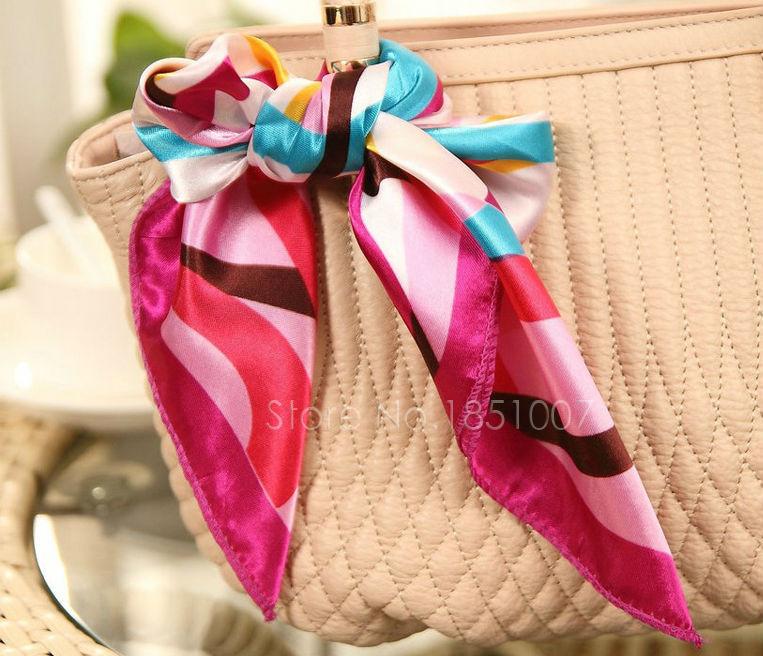 Free Shipping Printing Scarf Women Large Satin Square Scarf Fashion Emulation Silk Scarf Headband Summer Style Scarf(China (Mainland))