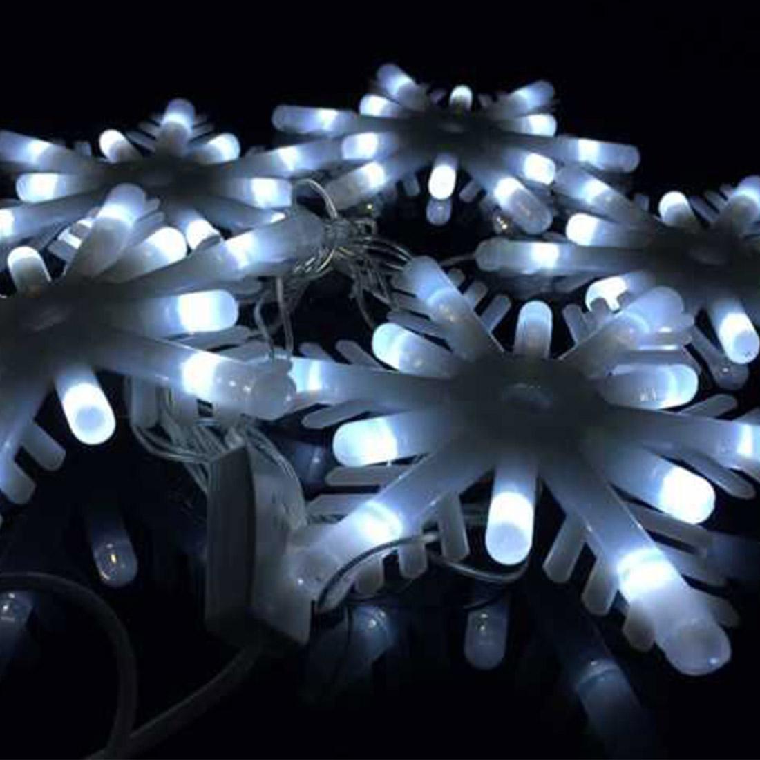 Christmas Wedding Party Garden 2.5M 5LED Decoration Light Cream White Snowflakes LED String Ligh Party Decoration(China (Mainland))