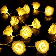 Buy Fashion Holiday Lighting 20xLED Novelty Rose Flower Fairy String Lights Wedding Party Christmas Decoration free for $5.20 in AliExpress store