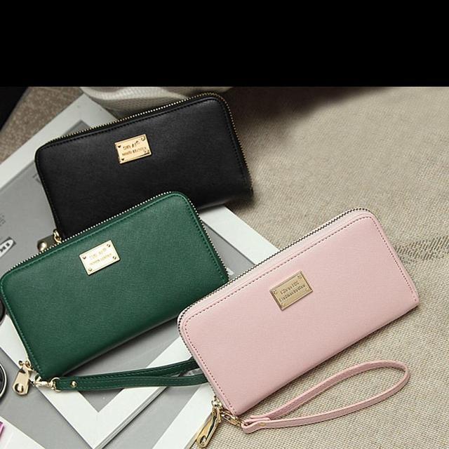 Бумажники 2015 кожи женщины дамы кошелек молния вместительный портмоне женский кредитной ...