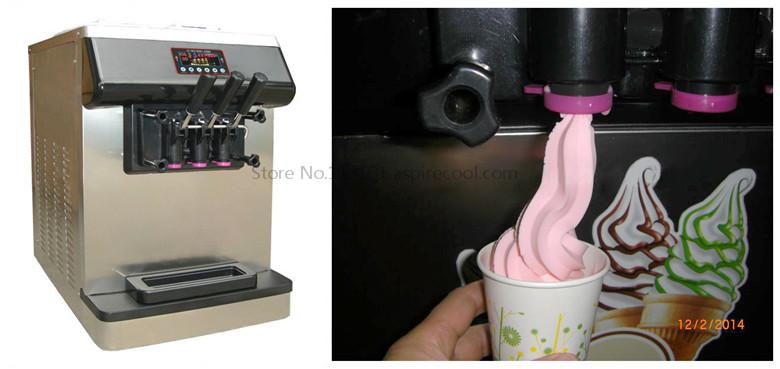 Countertop Ice Cream Maker : Countertop Ice Cream Machine with Digetal Icecream Cones Counter Three ...