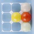 White Plastic Party Balloons Grids Wall Accessories Birthday for Modeling 9 Hole Decorations Halloween Christmas