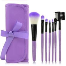 2016 New Arrive Professional 7 pcs Makeup Brush  Make-up Set Case Toiletry Kit Wool Brand Brush Set tools(China (Mainland))
