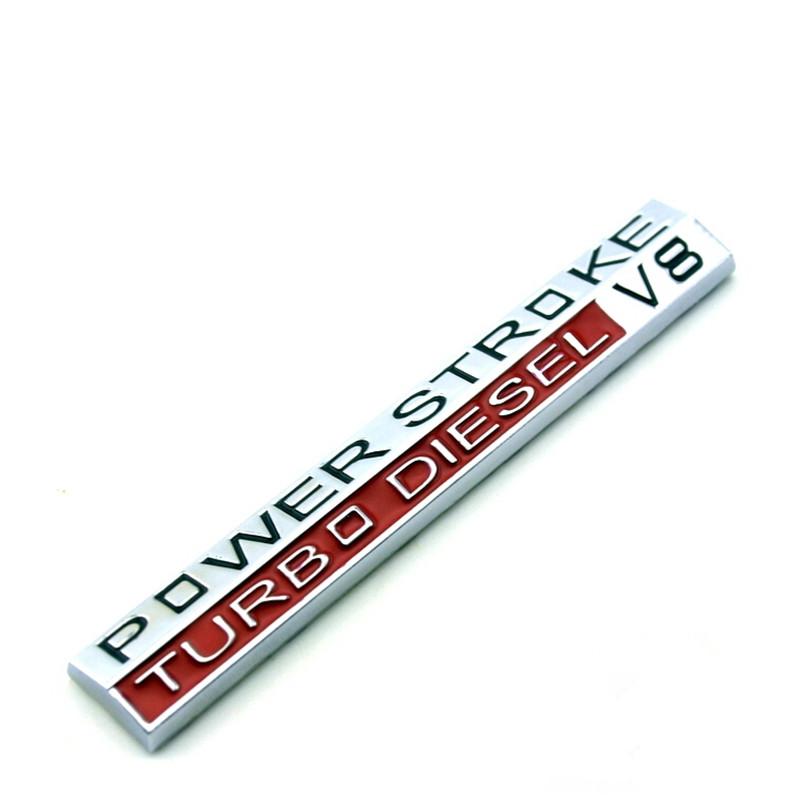 V8 POWER STROKE TURBO DIESEL 3D metal Badge Emblem Decal Sticker Car styling For ford F250 F350 Chevrolet mitsubishi Mazda VW(China (Mainland))