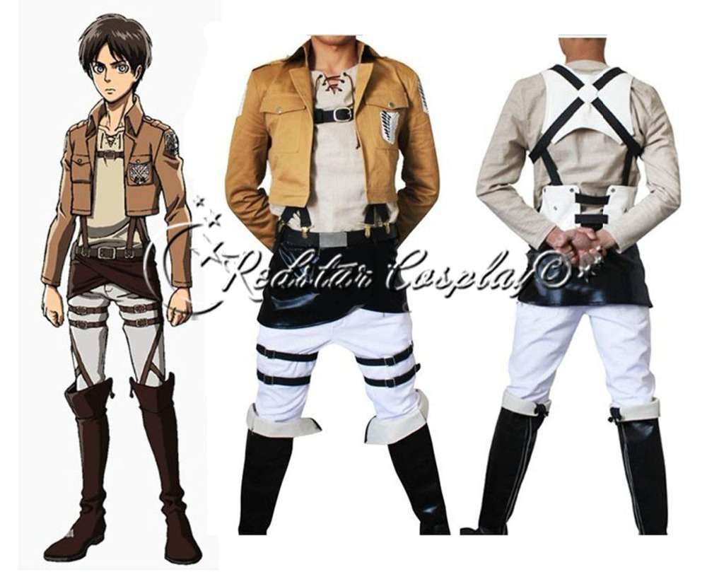 Shingeki no Kyojin Attack on Titan Eren Jager Cosplay Costume - Costum-made in any sizeОдежда и ак�е��уары<br><br><br>Aliexpress