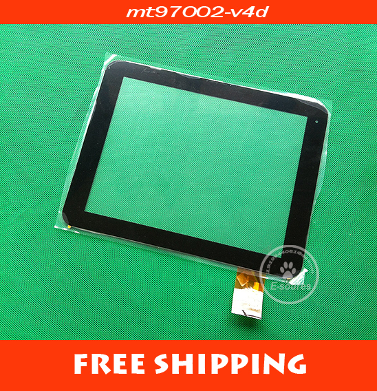 9.7'' MT97002-V4 MT97002-V4D Capacitive Touch Screen Touch Panel Digitizer Dlass for Yuandao window N90 dual core 2 II(China (Mainland))