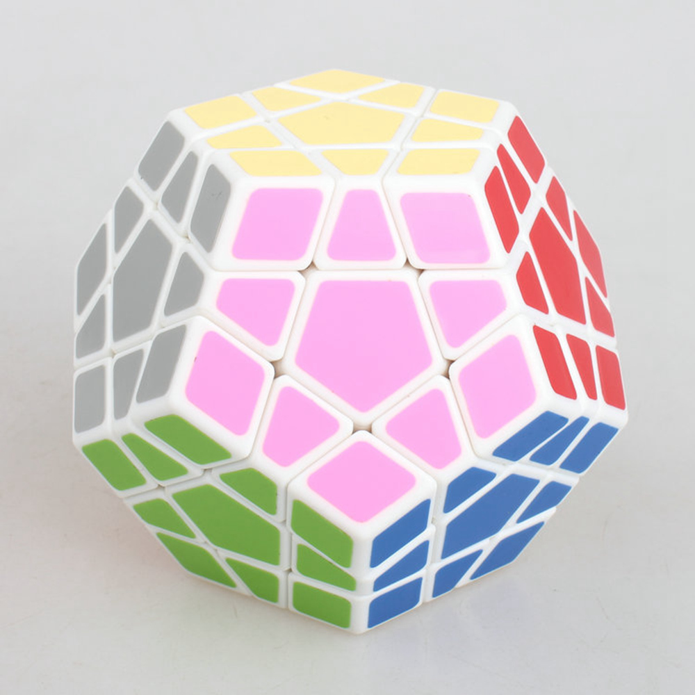 Brand New Shengshou 65mm Plastic Speed Puzzle Megaminx Magic Cube Educational Toys For Children Kids - White