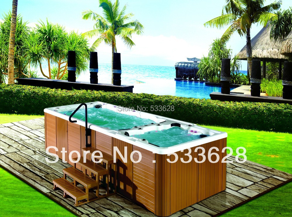 Buy Swimming Pool Hot Tub Combo Swim Spa 5 8 Meters Long 8801 From Reliable