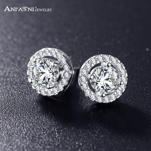 Buy ANFASNI Romantic Jewelry 2016 Stud Earrings Wedding Elegant Silver Color AAA Cubic Zirconia Stone Earring CER0002-B for $1.98 in AliExpress store