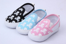 Fashion First Walkers Spring Autumn Baby Shoes Cool Skull Antiskid Baby Walker Toddlers Shoes Baby