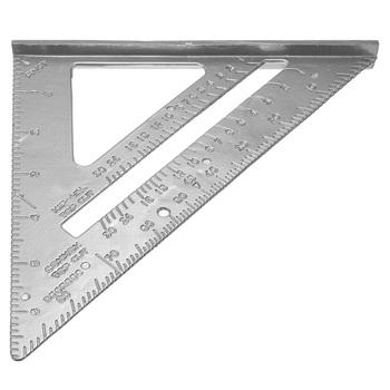 #Cu3 Free Shipping Aluminum Alloy Speed Square Protractor Miter Framing Measurement Carpenter Measuring Tool