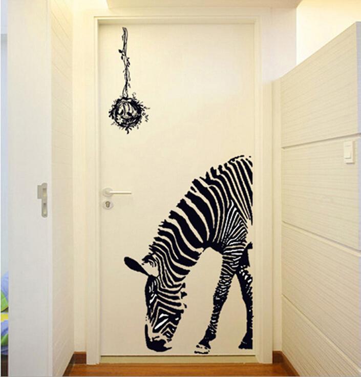 zebra wohnzimmer:abnehmbaren tier zebra Wohnzimmer schlafzimmer Flur Eingang Wand