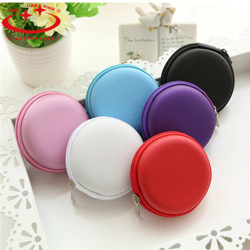 6 Colors PU leather Zipper Protective Headphone case Pouch Earphone Storage bag Soft Headset Earbuds box Usb cable organizer(China (Mainland))