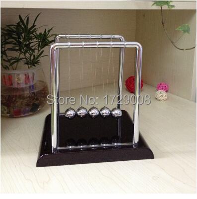 Hot Sale Development Educational Desk Toy Gift Newtons Cradle Steel Balance Ball Physics Science Pendulum Bumps Gravity Ball(China (Mainland))