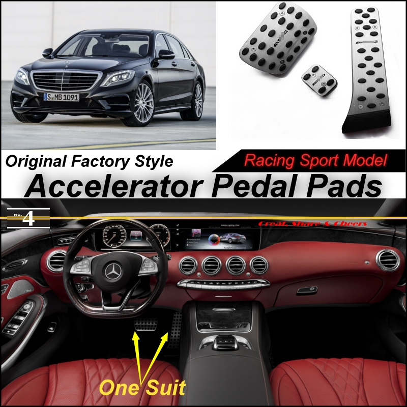 Car Accelerator Pedal Pad / Cover Factory Sport Racing Design Mercedes Benz S Class MB W222 X222 AT Foot Throttle