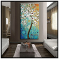 abstract canvas wall art modern acrylic textured white cherry blossom tree oil painting on canvas for