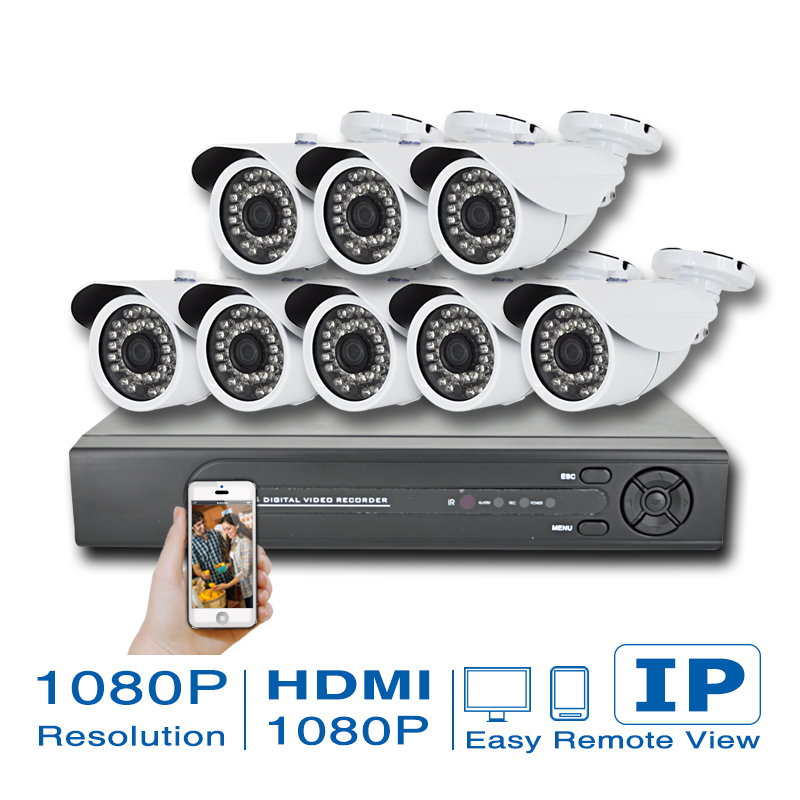 8CH CCTV System 1080P HDMI NVR 4PCS 2.0 MP IR Outdoor P2P POE IP CCTV Camera Security System Surveillance Kit ip camera system(China (Mainland))