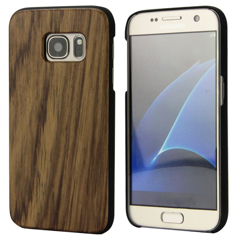 New Arrival Real Wood Bamboo Case for Samsung Galaxy S7 5.1 Inch Simple Style Phone Cover with PC(China (Mainland))