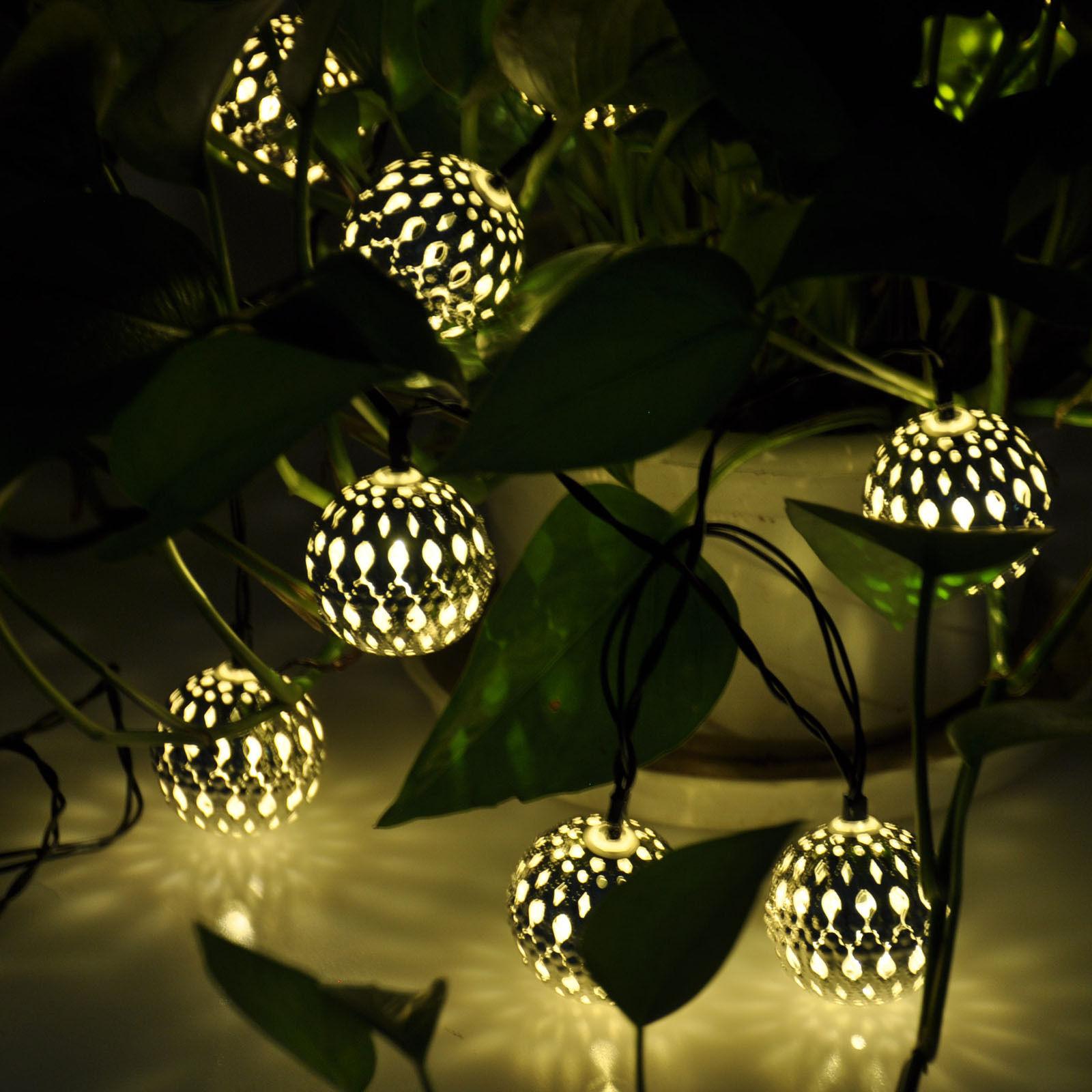 Wholesale ews new set of 10 solar led lights moroccan globe aeproducttsubject mozeypictures Images