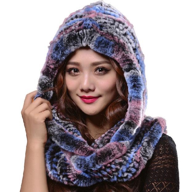 Scarf Hat Fur Winter Women Thick Muslim hijab Hats Superwarm Long Scarf Big Headwear Fashion Hoodie LQ11064(China (Mainland))