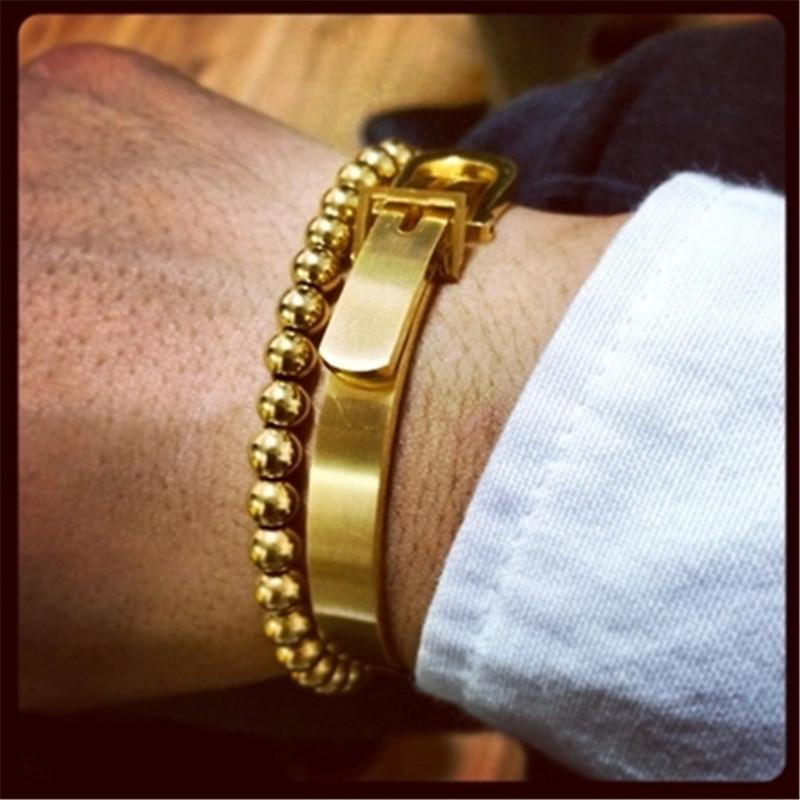 HOT Anil Arjandas for ar jandas gold black horseshoe buckle lovers men bracelet Free shipping<br><br>Aliexpress