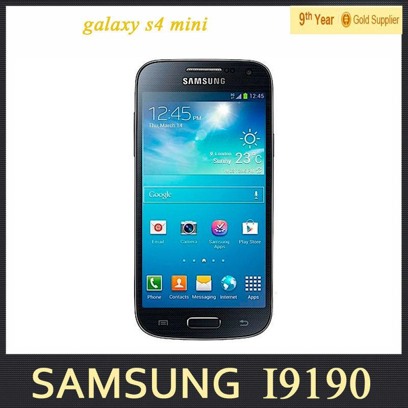Original Samsung galaxy S4 mini I9195 I9190 Mobile Phone Dual-core 4.3 inch 8G internal 8MP Camera 3G Refurbished Android Phone(Hong Kong)
