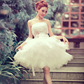2017 new arrival ball gown short lace sweetheart sequined flower elegant women formal wedding dresses size