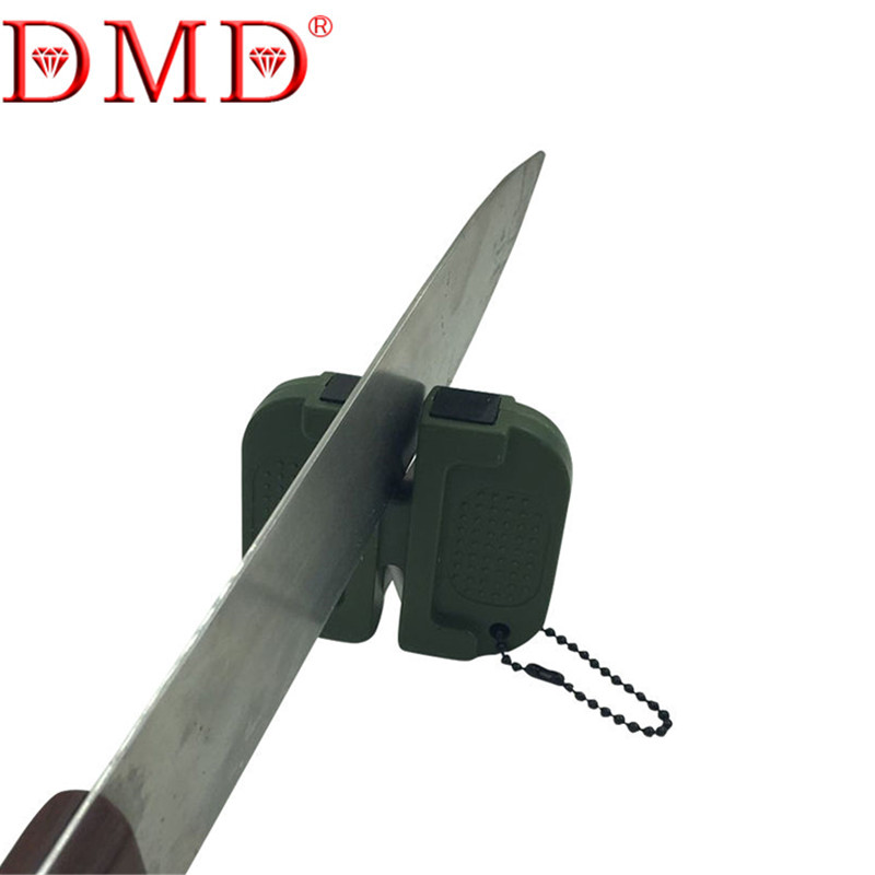 DMD 2 STAGE Outdoor mini Carbide and Ceramic Pocket Knife sharpener Sharpening stone LX1422 Free Shipping(China (Mainland))