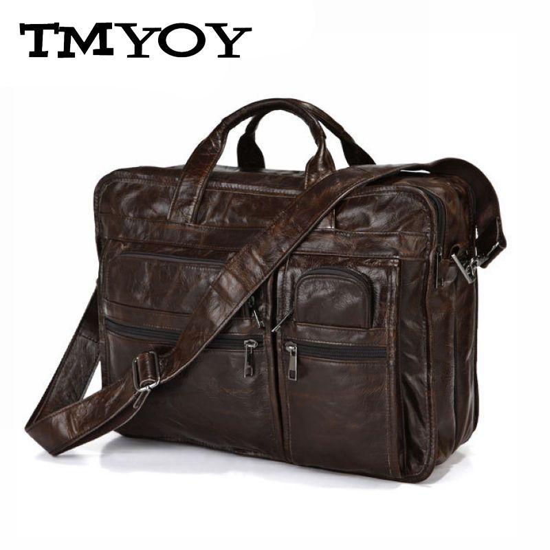 TMYOY 2016 Hot sale Business men leather handbag High Quality Brand 100% Genuine Leather Bag Messenger bag Men Bag Laptop JD013(China (Mainland))