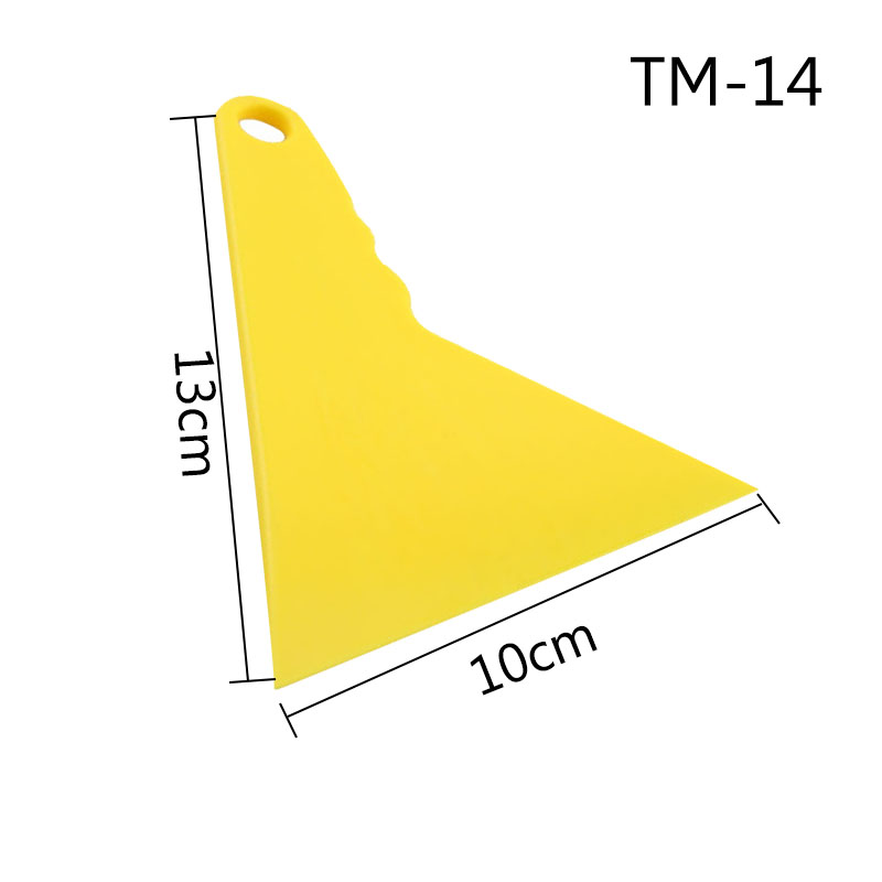 13*10 cm High Temperature Resistance Triangular Yellow Squeegee Car Vinyl Wrapping TM-14 10 pieces(China (Mainland))