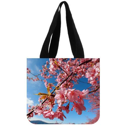 2015 new arrival lady shopping handbag custom cherry blossom flower colorful beautiful-8 Printed women's tote bag(China (Mainland))