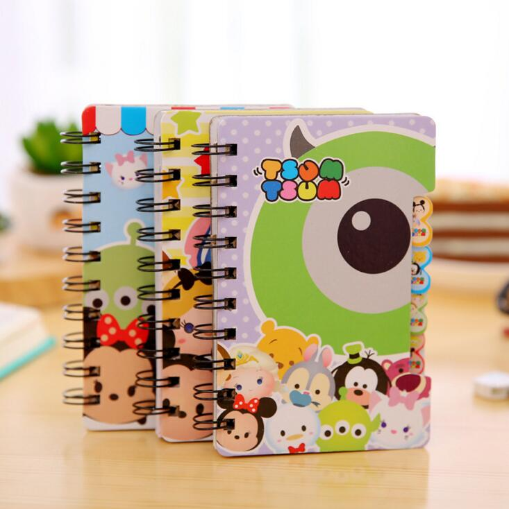 Large Size Cute Tsum Hard Cover Coil Book Pocket Notebook Diary Notepad Escolar Papelaria(China (Mainland))