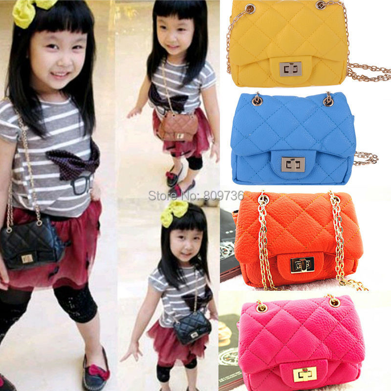 New Hot Girls Baby Toddler Metal Chain Buckle Hangbag Kids Shoulder Bag Childrens Crossbody Bag Purse Gift Drop Free(China (Mainland))
