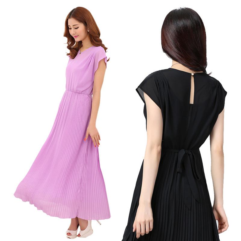 elegant women chiffon dress long beach dresses plus size