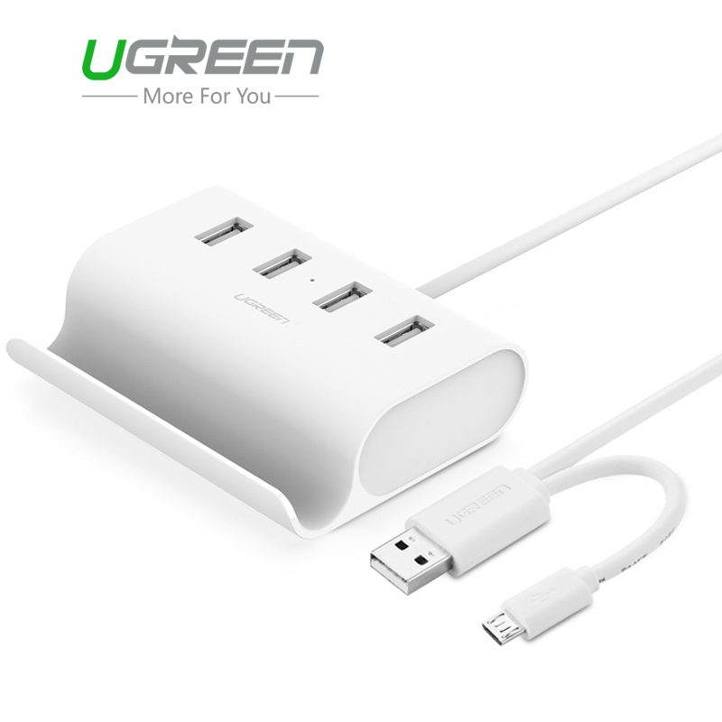 Ugreen Micro USB 4 Port OTG HUB with Phone Stand USB 2.0 Adapter Splitter External Power Supply for Tablet Macbook Phone PC(China (Mainland))