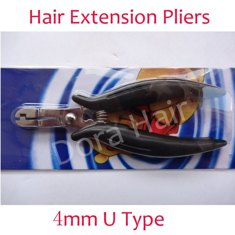 High-grade Мини 4mm plier U-shaped tip for hair extensions Hair extension tools hair ...