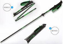 outdoor ultralight Ski Poles folding walking stick  skiing rod (China (Mainland))