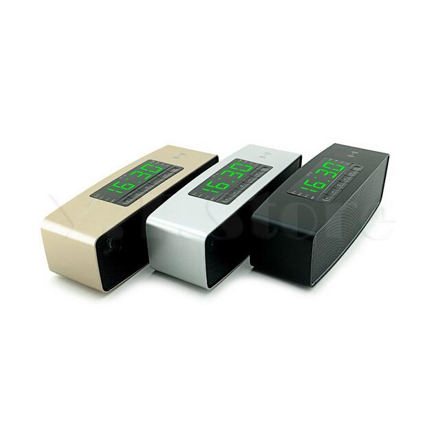 Fashion Cheap Portable Wireless Bluetooth Speaker caixa de som digital screen clock FM Radio sound bar boom box Speakers(China (Mainland))