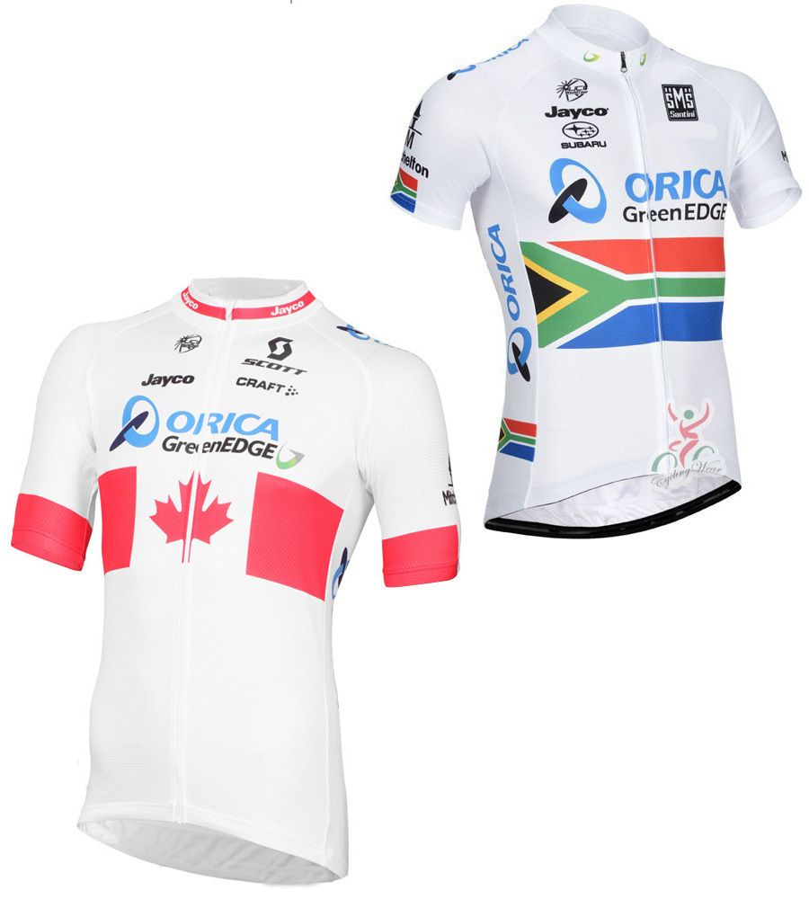 2 style! GreenEDGE professional cycling team Jersey/Canada Jersey + orica jayco breathable clothing Mountain Bike Cycling Jersey(China (Mainland))