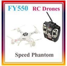 2015 New FY550 2.4 G 4CH 6 axes Speed Phantom RC Quadcopter RTF télécommande hélicoptère RC professionnelle Drones jouets
