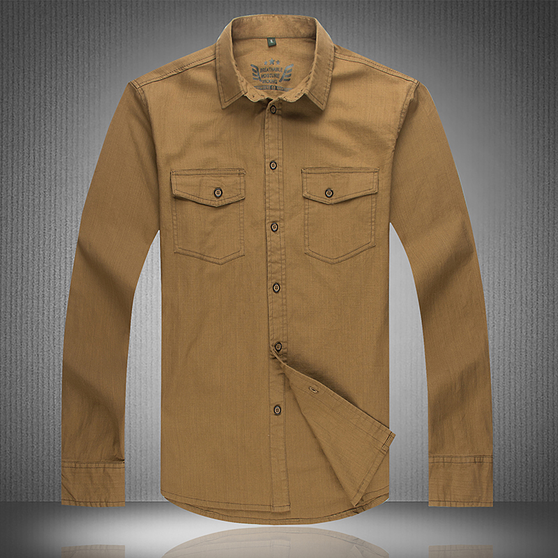 High Quality Men's Outdoors Long Sleeve Military Casual Shirt Airforce Style with Cotton Canvas Plus Size L~5XL 6XL 7XL #68032(China (Mainland))